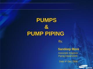 Pump & pump piping  presentation.ppt