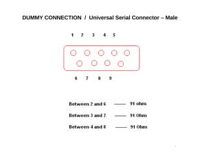 9 Pin Connector_Male_Dummy Connection.ppt
