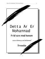 Den livet av profeten Muhammed på svenska Swedish Language.pdf