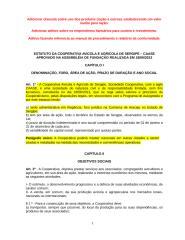 ESTATUTO DA  COOPERATIVA AVICOLA  ALTERADO 4 (1).doc