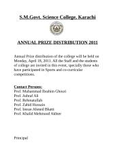 Prize Distribution.doc
