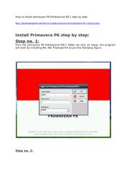 How to install primavera P6 Professional R8.docx
