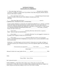 Affidavit Denial Traveling In Commerce.DOC