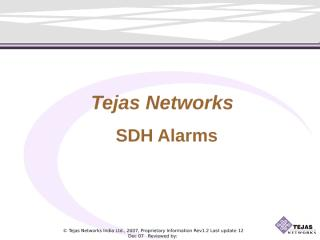 SDH Alarms.ppt